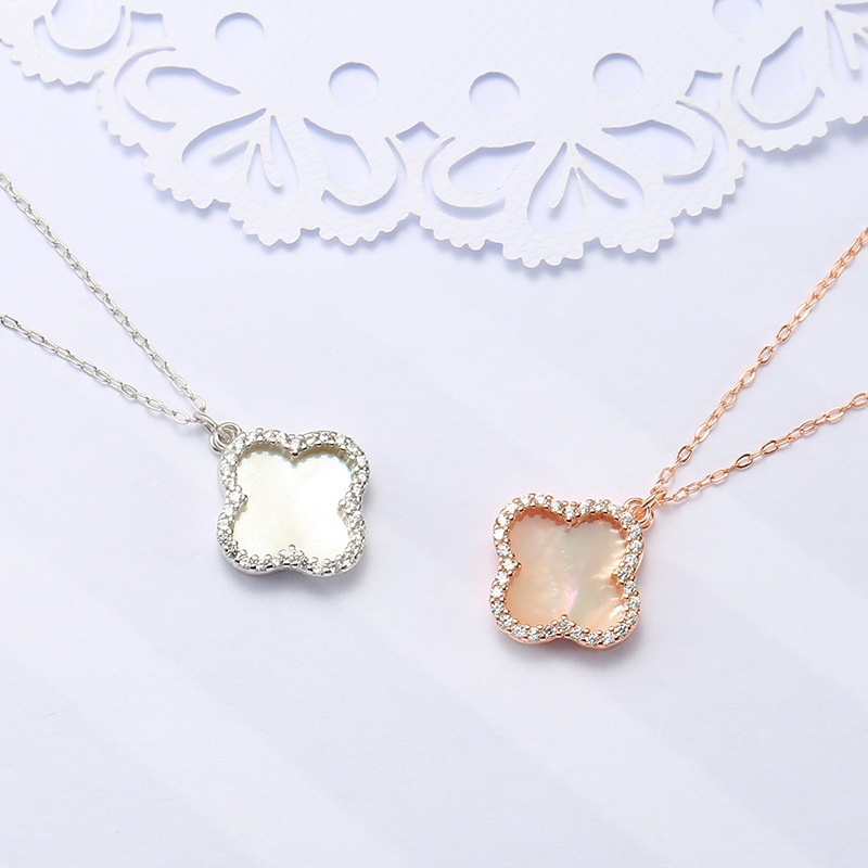 Trendy Four-Leaf Clover Necklace for Anniversary Gifts