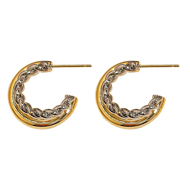 Smart Fashion Metal Beading Hoops Earrings for Family Event