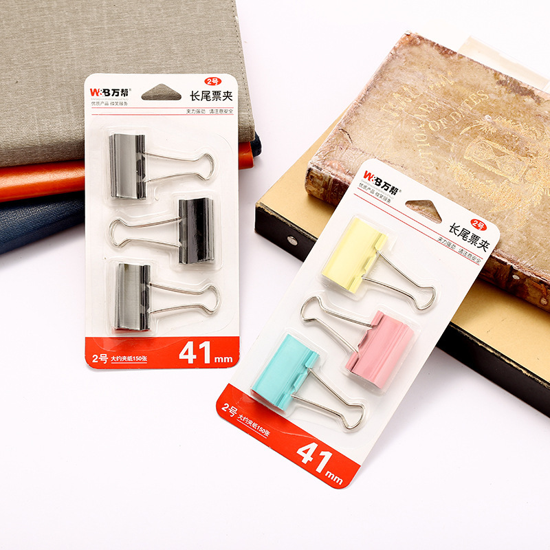 Portable Metal Binder Clips for Fastening Papers Together