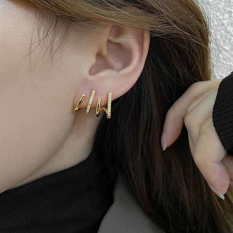 Dainty Earclip Earrings for Fake Ear Piercings