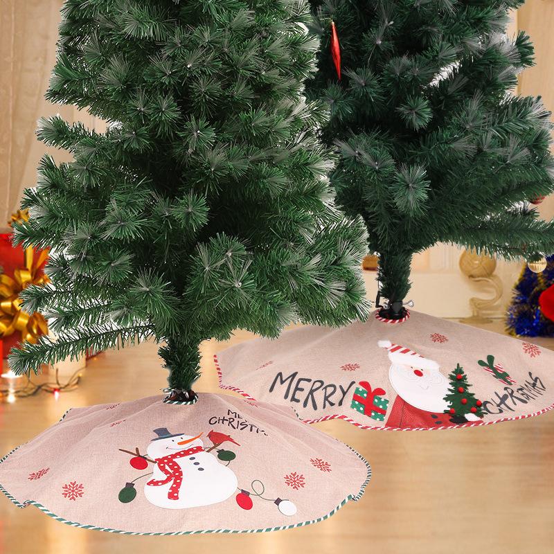 Joyful Wondrous Christmas Tree Skirt for Indoor Pine Trees