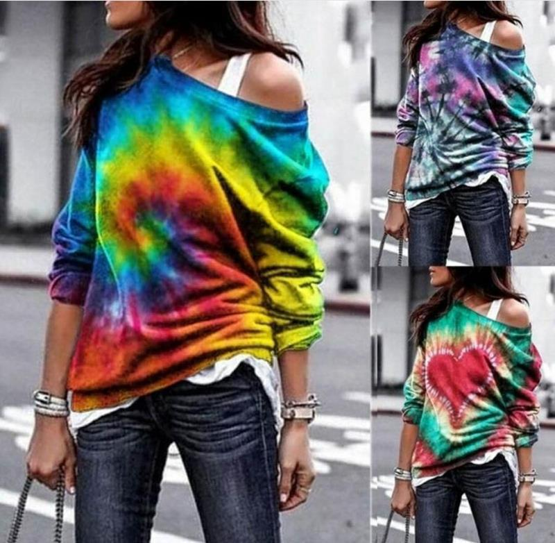 Colorful Tie-Dyed Tee for Trendy Street Wear