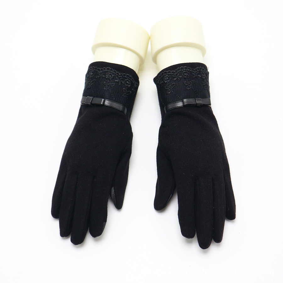 Floral Embroidered Daywear Gloves for Casual Office Wear