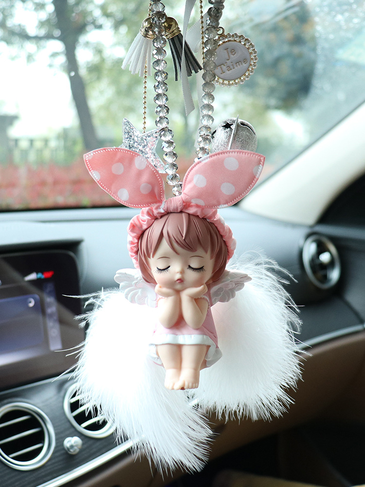 Adorable Hanging Angel Doll Car Pendant for Car Decor Supplies