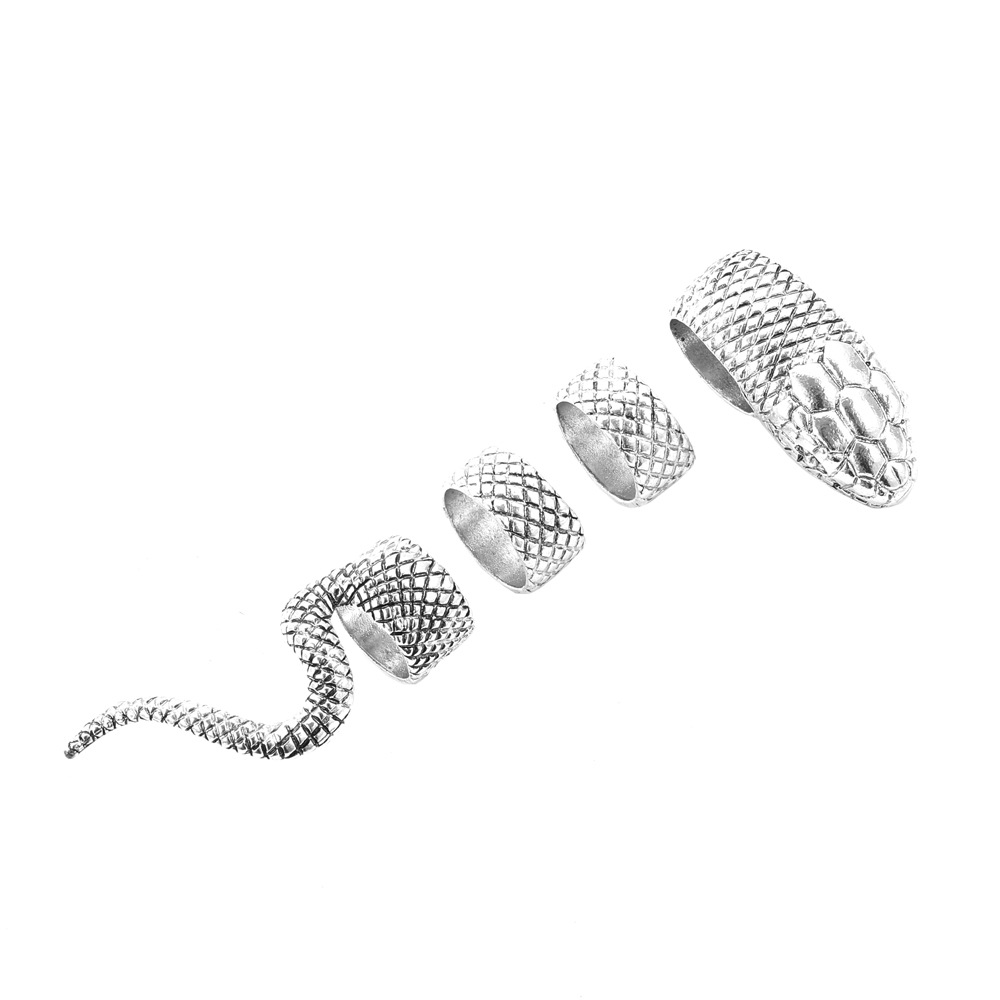 Amazing Wrapping Snake Individual Rings Set for Snake Enthusiast