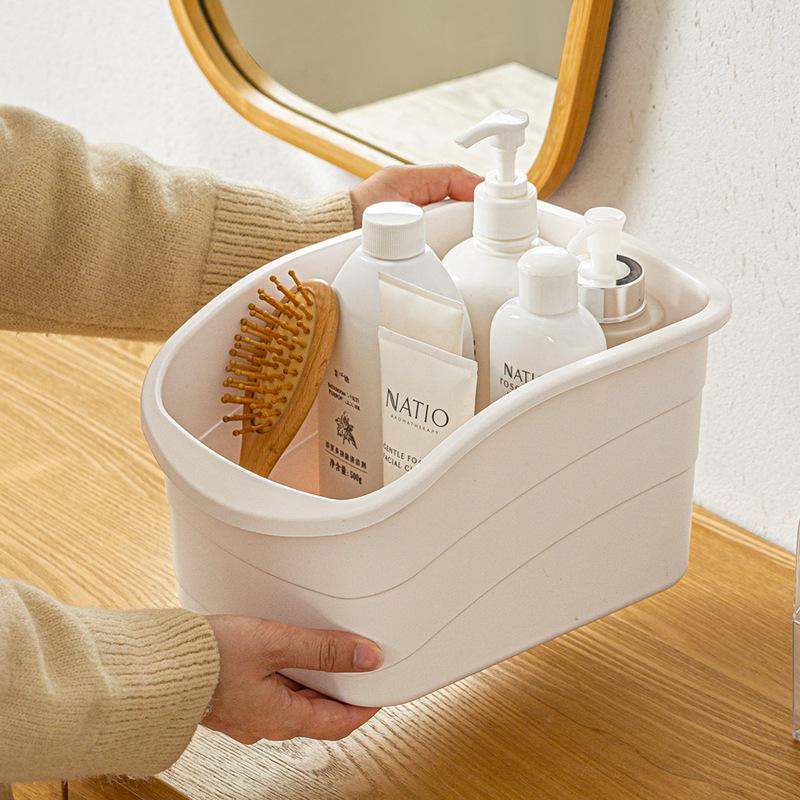 Multi-Purpose Plastic Storage Basket for Household Use
