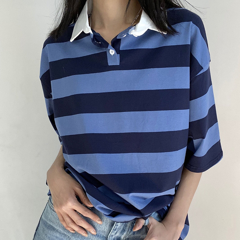 Pleasing Big Striped Polo for Matching Denim Jeans