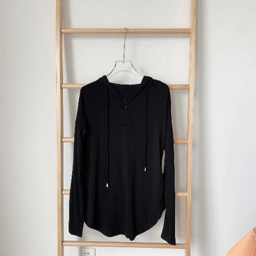 Plain And Simple Long Sleeve Drape Hoodie for Traveling