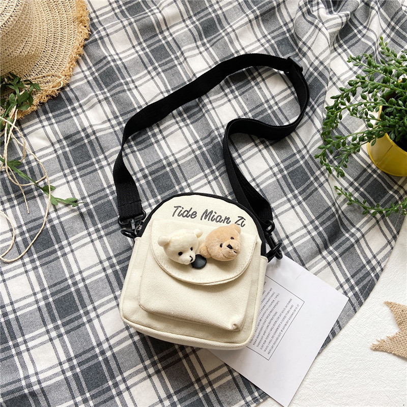 Adorable Bear Heads Shoulder Bag for Exaggerated Cute Outfits