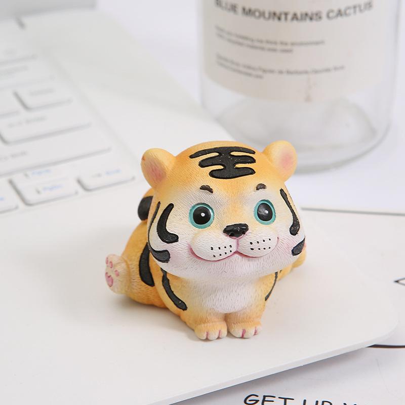 Adorable Little Tiger Craft Decoration for Interior Car Design