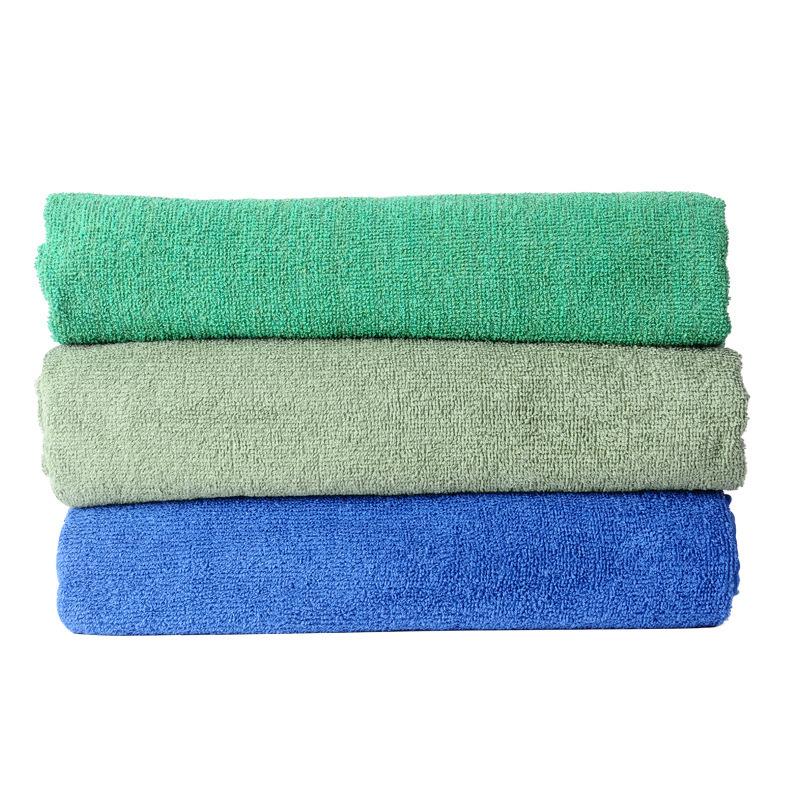 Soft Light-Colored Plain Cotton Towel for Bath Essential