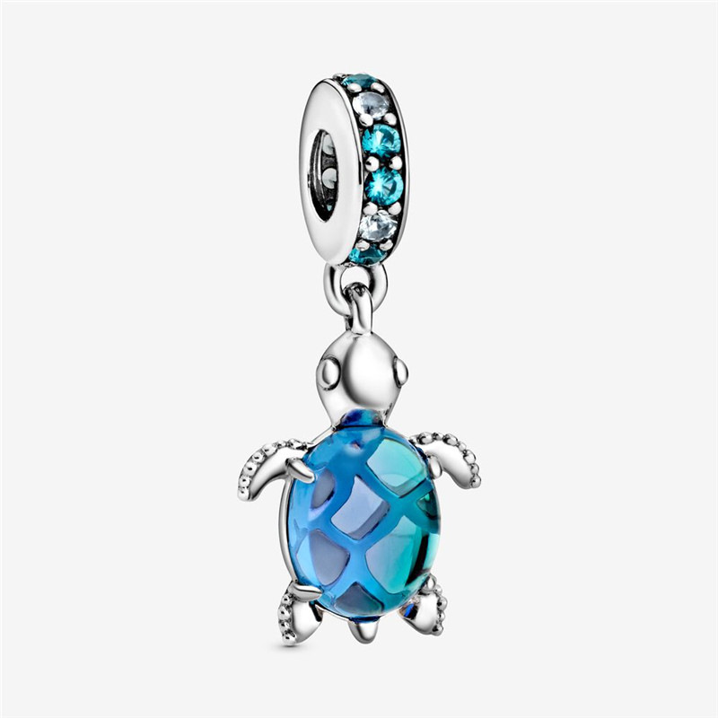 Adorable Shiny Hanging Turtle Bead Pendant for Necklace Making