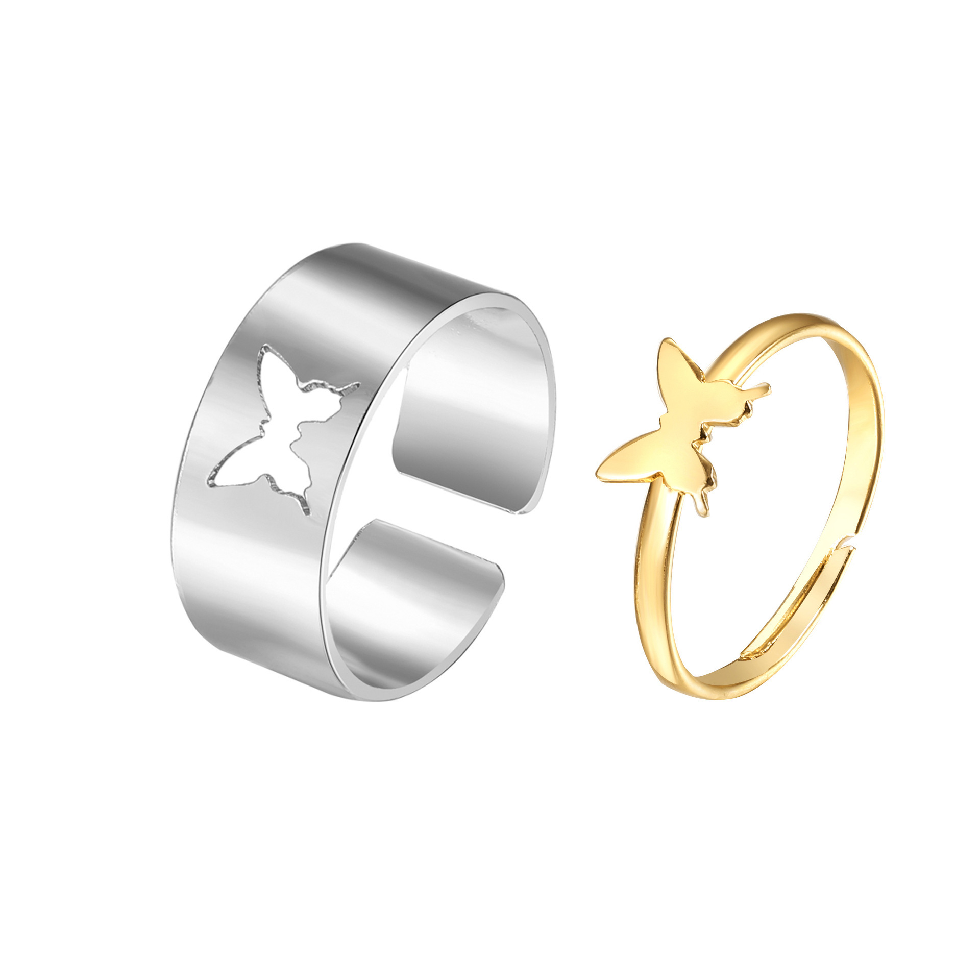 Classy Alloy Two Pieces Rings for Christmas Gifts
