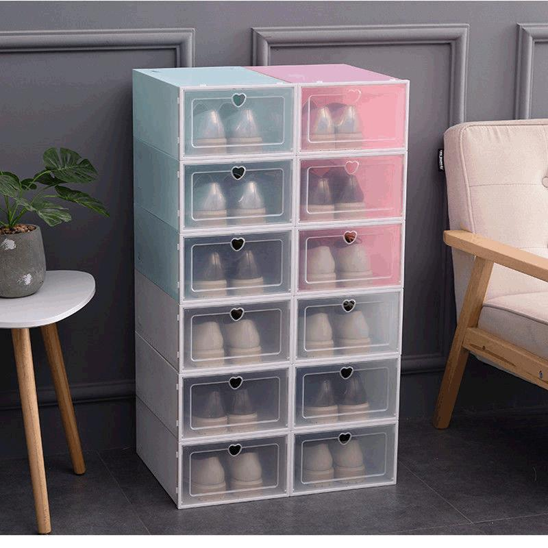 Classic Transparent Thickened Plastic Storage Box for Shoes