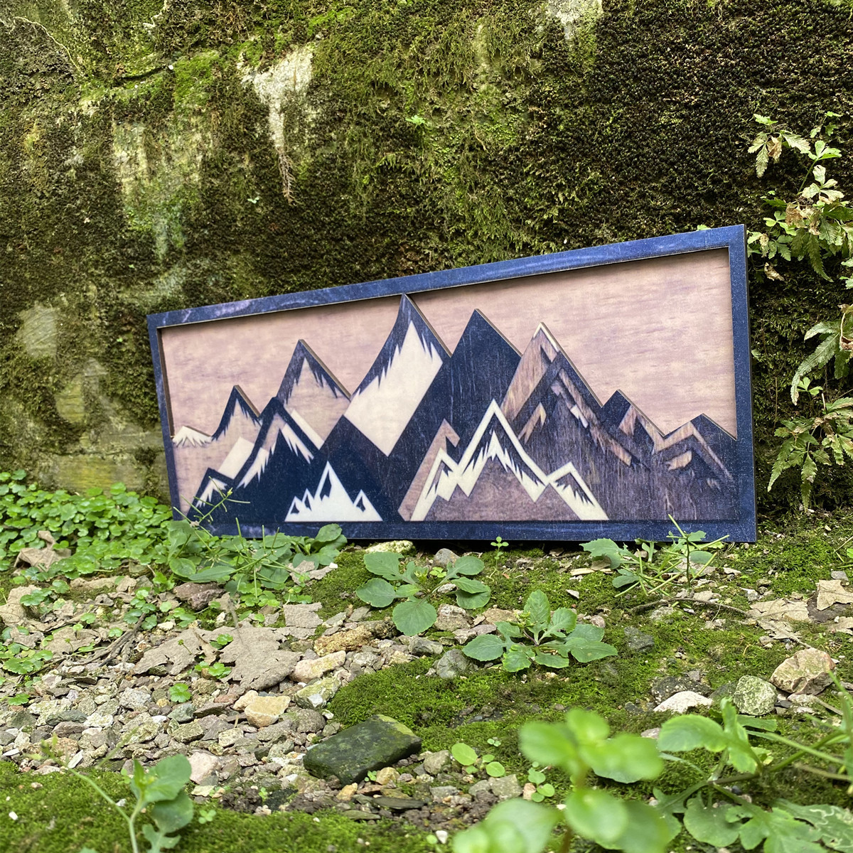 Attractive Mountain Wall Frame for Trendy Home Decor
