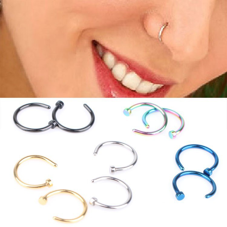 Funky Style Stainless Steel Nose Ring for Accessories