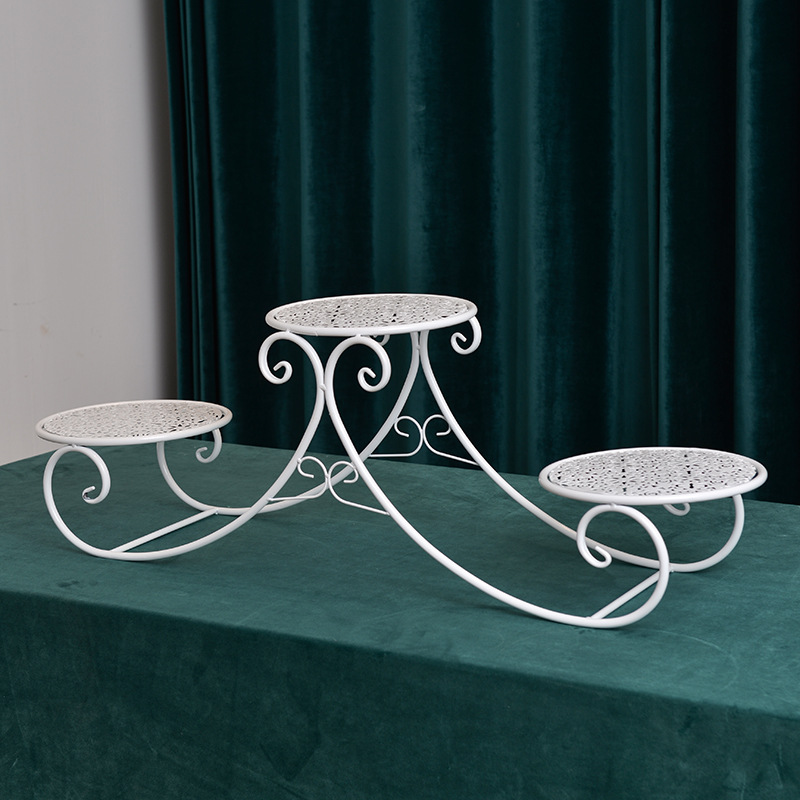 European-Style Multi-Layer Iron Cake Stand for Classy Birthday Parties