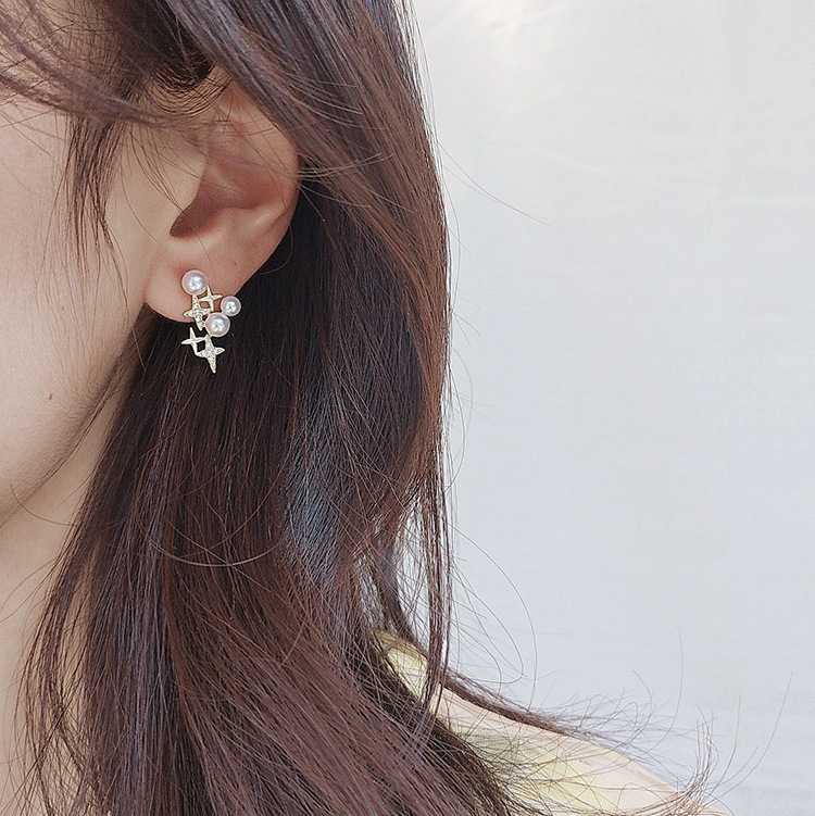 Beautiful Alloy Earrings for Matching with Preppy Blouse