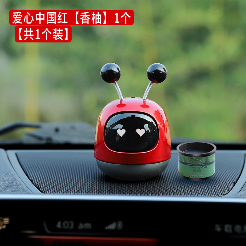 Cute Robot-Designed Aromatherapy Car Decor for Fragrant Ambiance