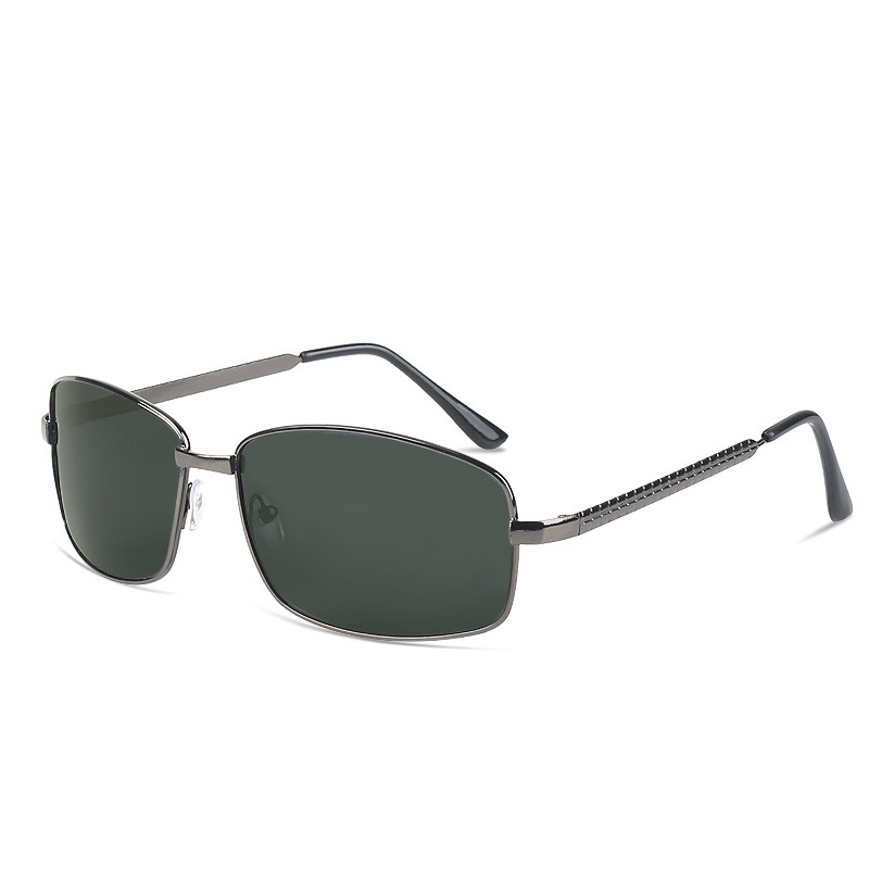 Simple Protective Polarized Black Sunglasses for Driving on a Hot Sunny Day