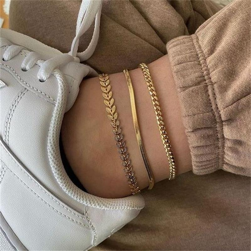 Fancy Chain Anklets for Birthday Gifts