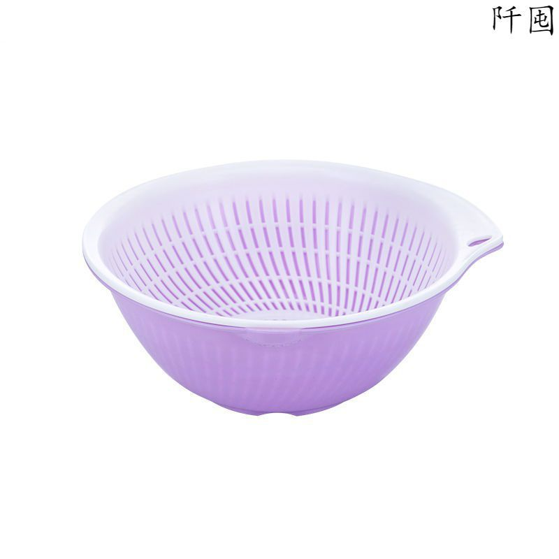 Basic Light-Colored Polypropylene Bowl with Drain for Easy Food Prep