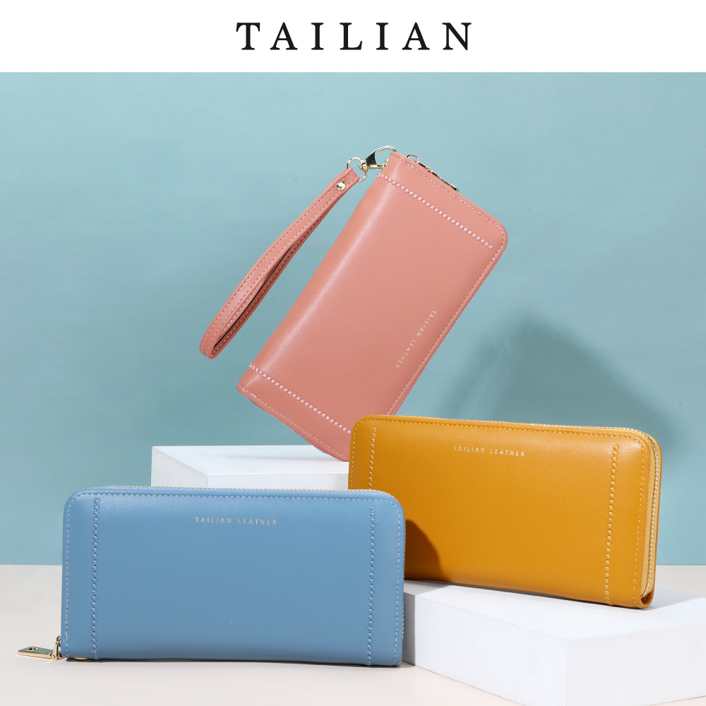 Faux Leather Long Wallet for Ladies