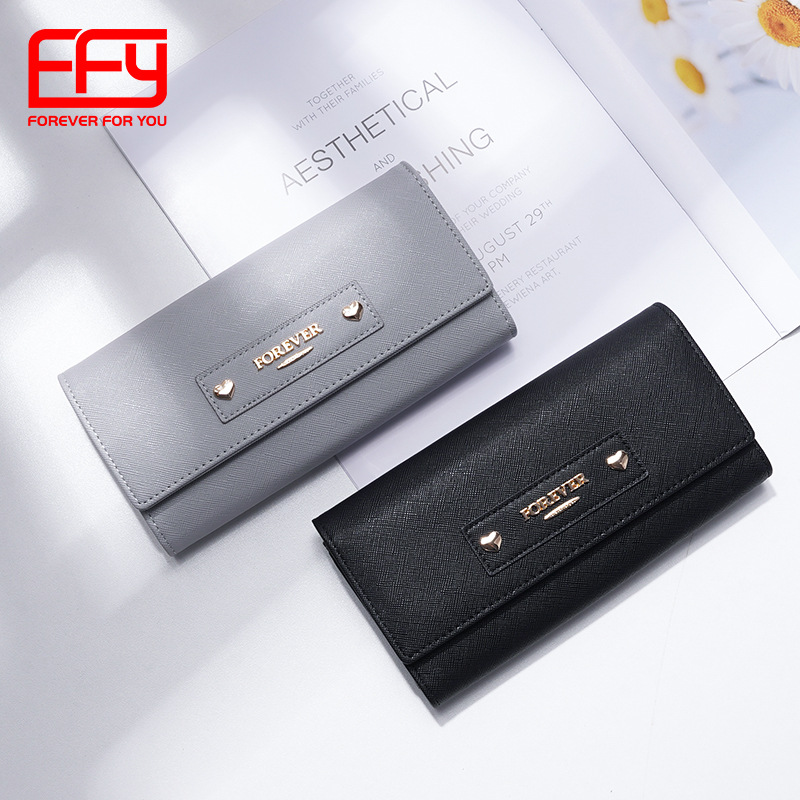 Formal-Looking Faux Leather Rectangle Wallet for Coffee Meetings