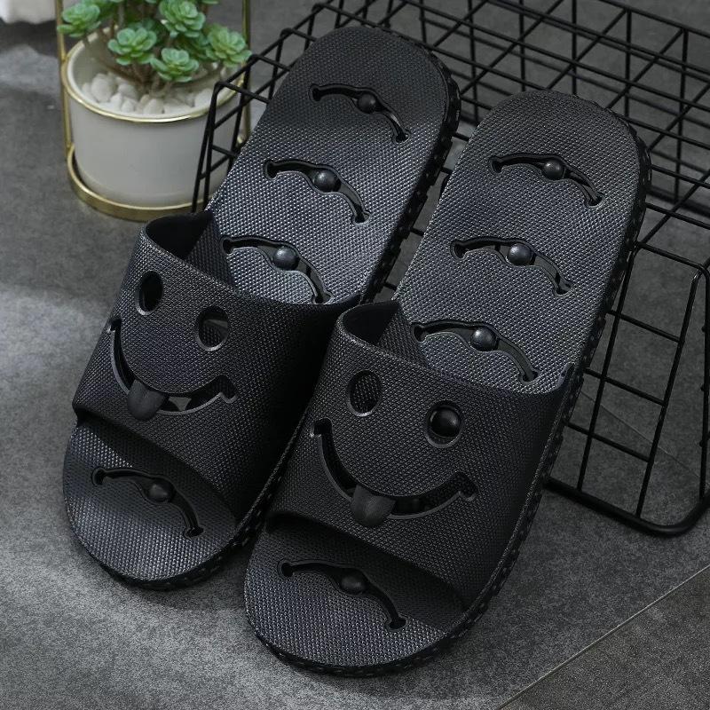 Non-Slip Smiley Face Design Slippers for Bathroom