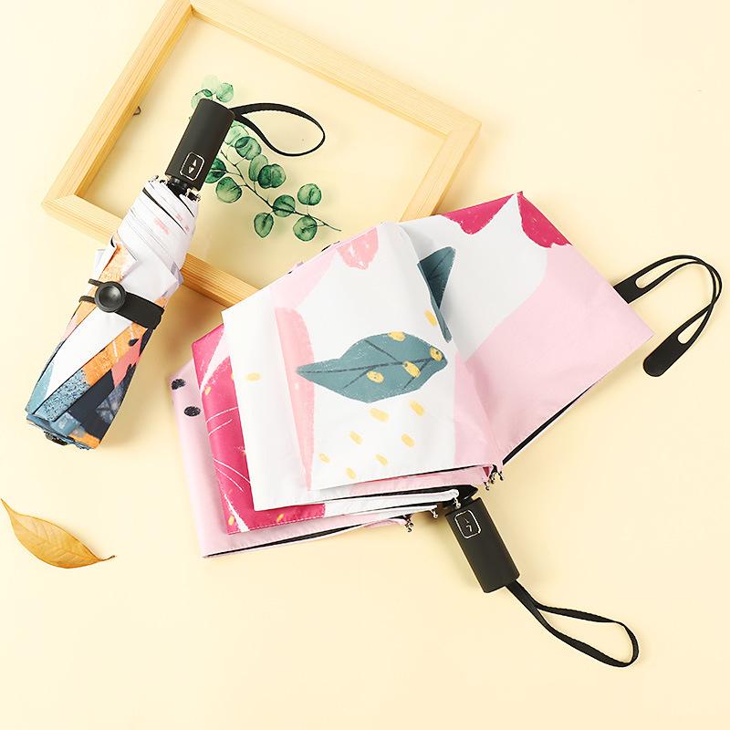 Multipurpose Printed Automatic Umbrella for Sunny and Rainy Days