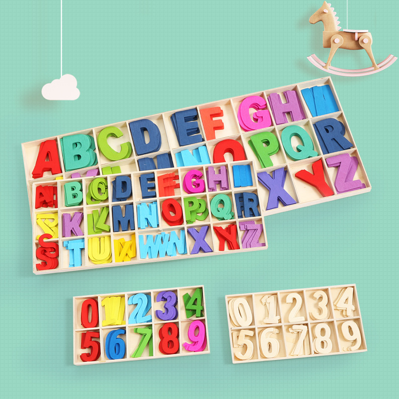 Educational Wooden Letters for Teaching Kids at Home