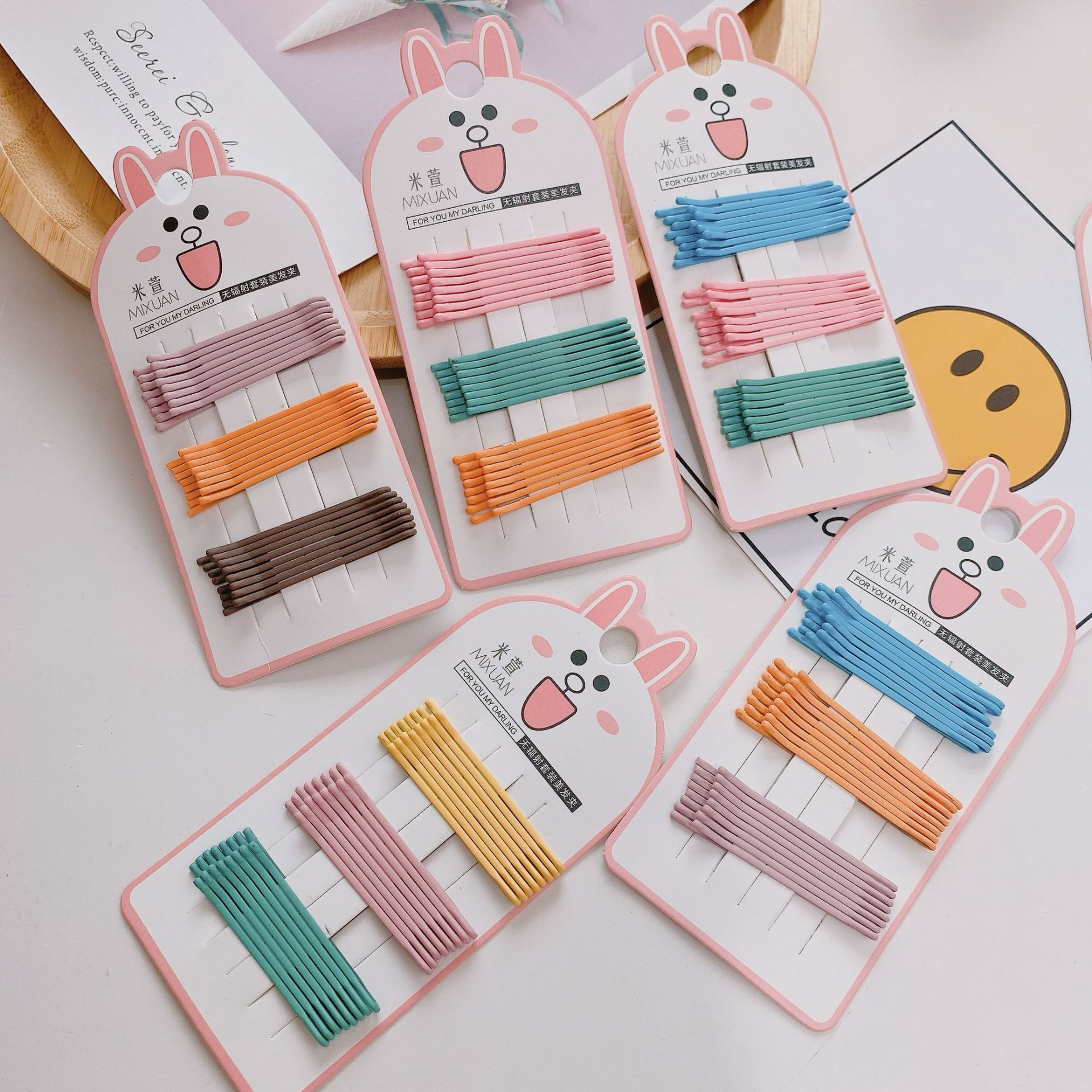 Simple Candy Color Hairpins for Neat Hairstyle
