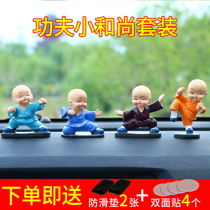 Delighted Miniature Monks for Creative Car Decors