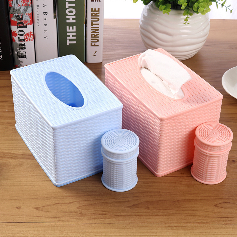 Classic Style Rattan Cassette Tissue Box for Household Use