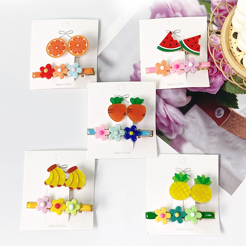 Adorable Fruit and Flower Hair Pin for Charming Ensembles
