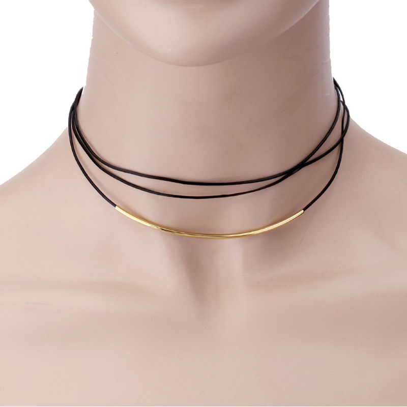 Stainless Steel Cold Wind Necklace for Funky-Style Accessory