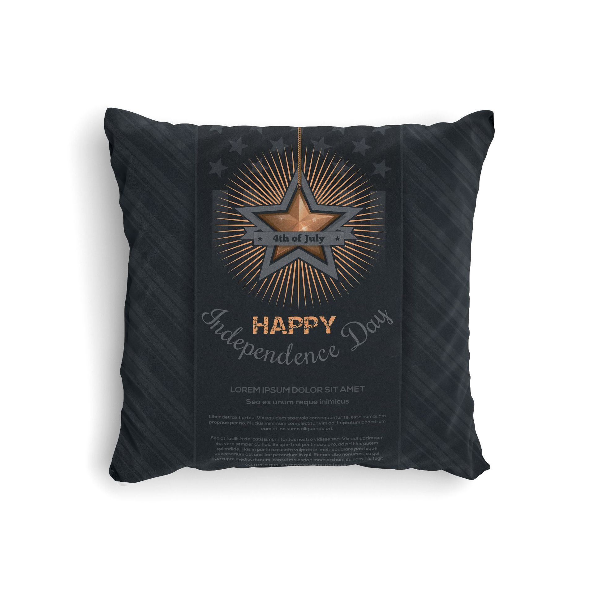 Stylish Sleek Independence Day Pillowcase for House Events