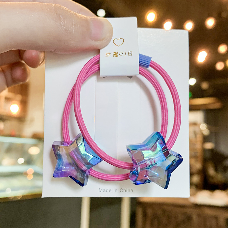 Lovely Rubber Band With Star Detail For Children's Hair Accessories