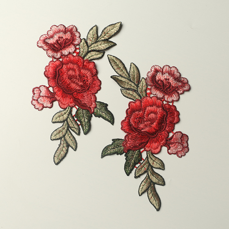 Retro Aesthetic Floral Cloth Patch Design for T-Shirts