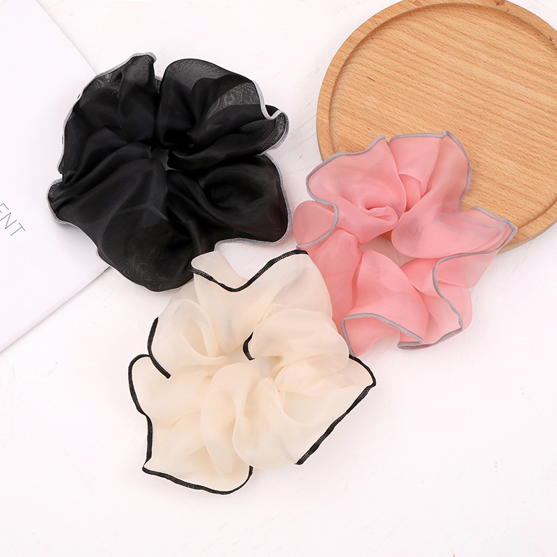 Prepossessing Large Color Contrast Scrunchies for Presentable Hair Style