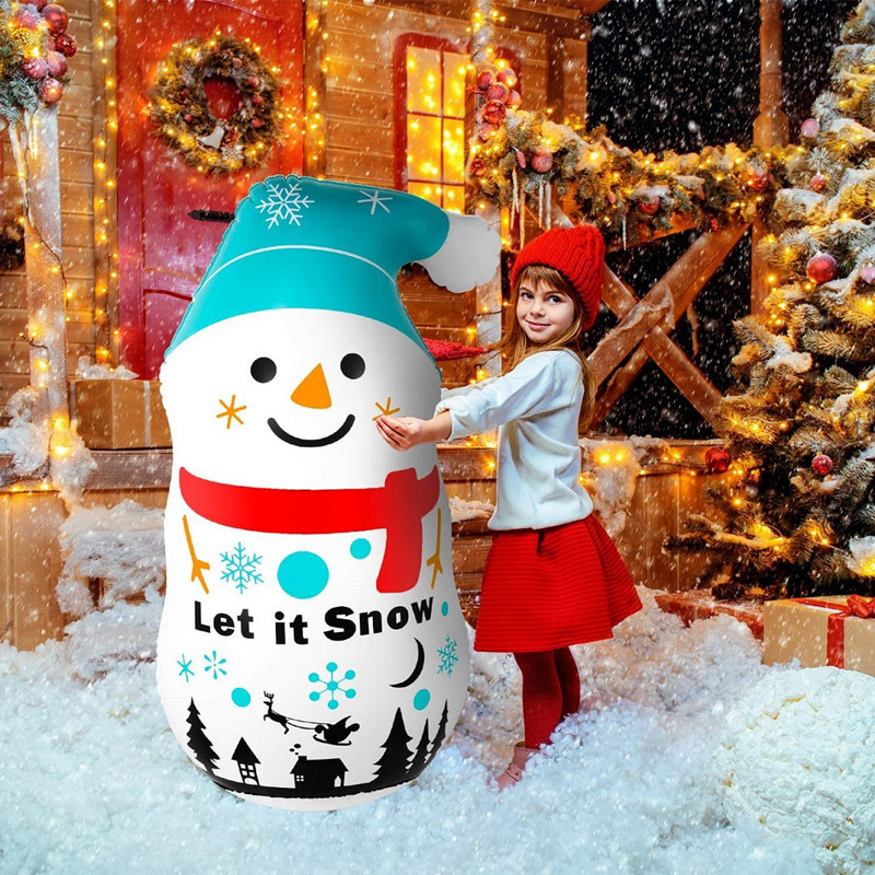 Life-Sized Inflatable Snowman for Home Entrance Display