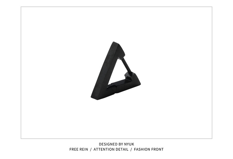 Simple Triangle Titanium Steel Earrings for Women's Everyday Wear