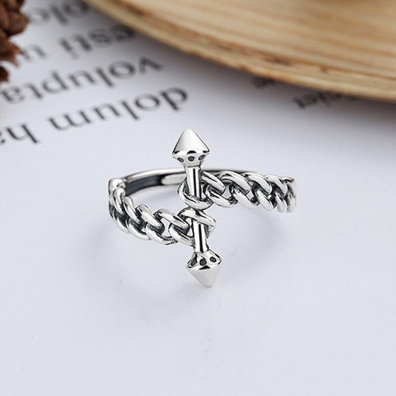 Retro Style Irregular Shaped Ring for Couple Wear