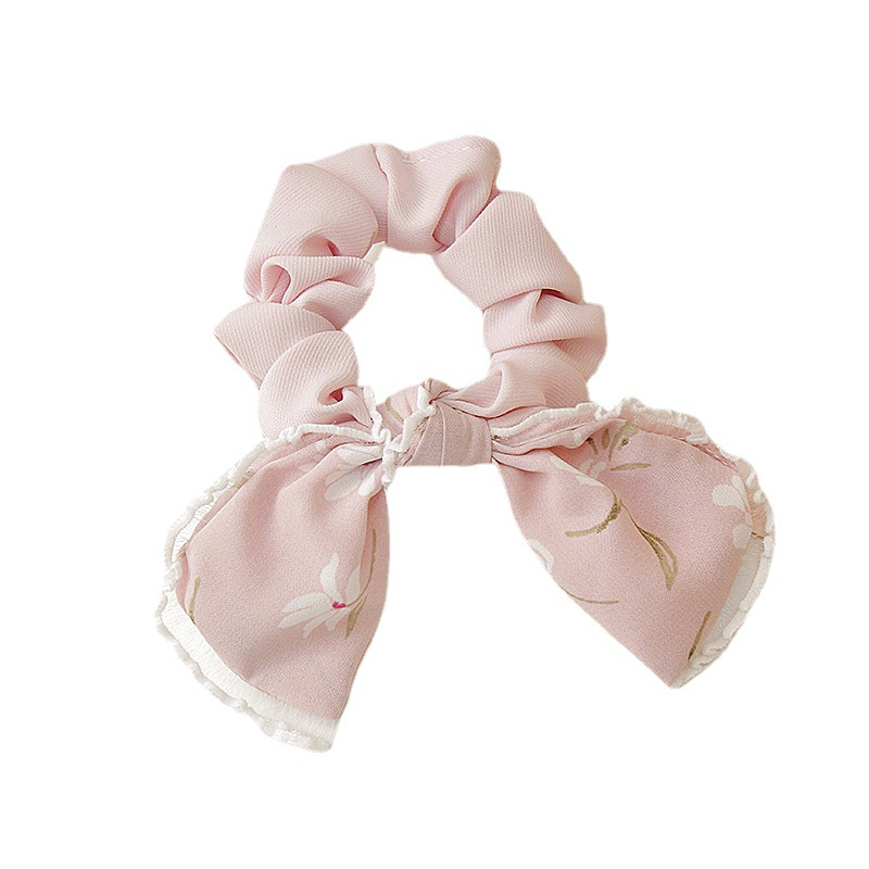 Delicate Floral Scrunchie for Girls' Day Out