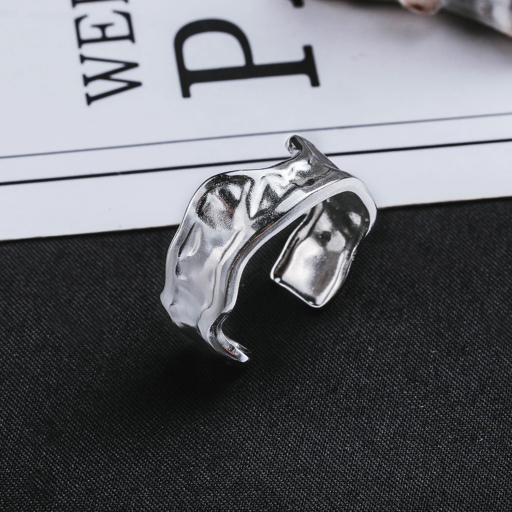 Contemporary Titanium Steel Ring for Minimalist Casual Outfits