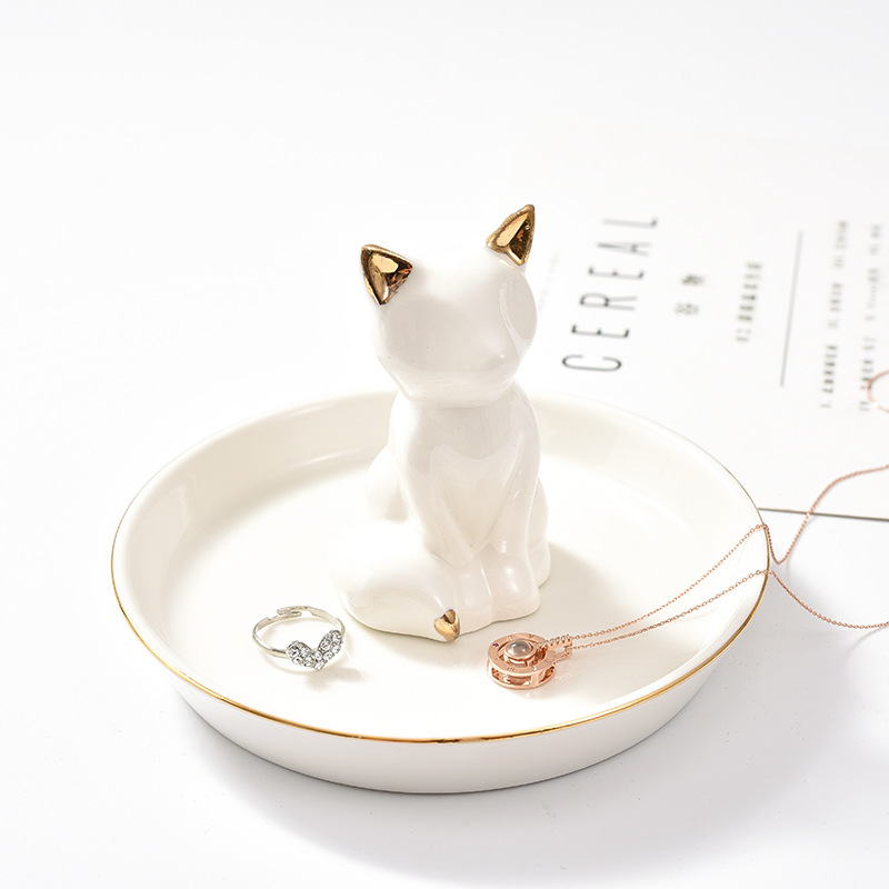 Golden Fox Jewelry Holder for Gracing Your Bedside Table