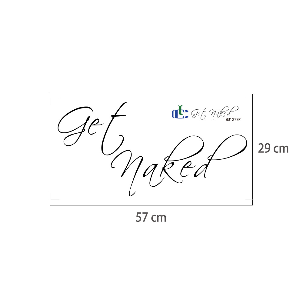 """Silly """"Get Naked"""" Sticker for Bath Tub and Bathroom Walls"""