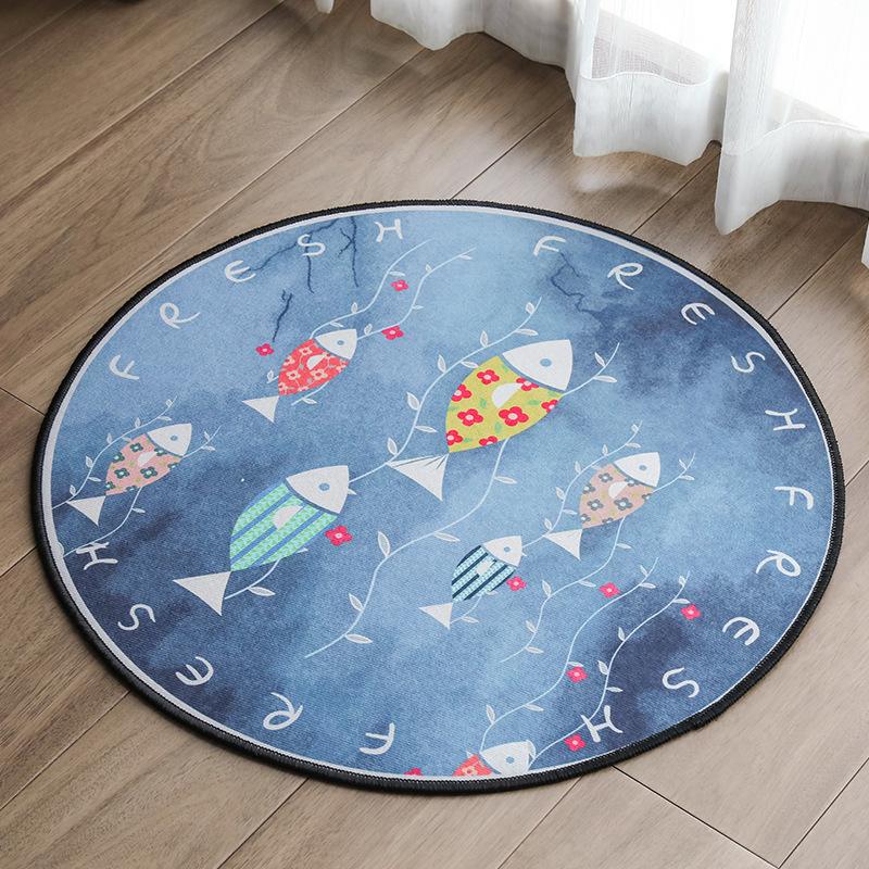 Creative Round Non-Slip Mat for Bedroom Floor