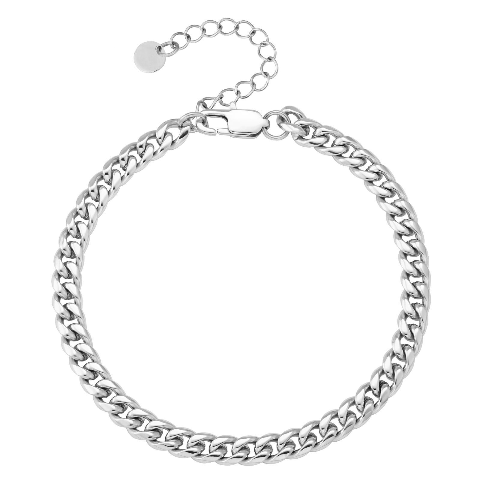 Basic Titanium Curb Chain Anklets for Foot Jewelries