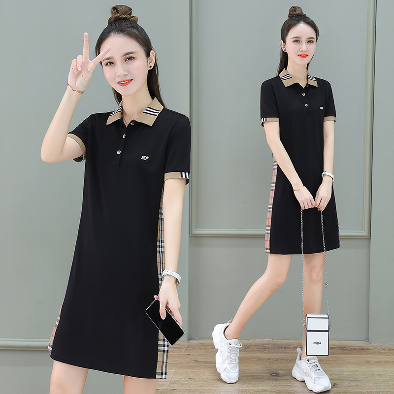Pleasant Striped Patterned Collar with Button Design Dress for Perky Outfits
